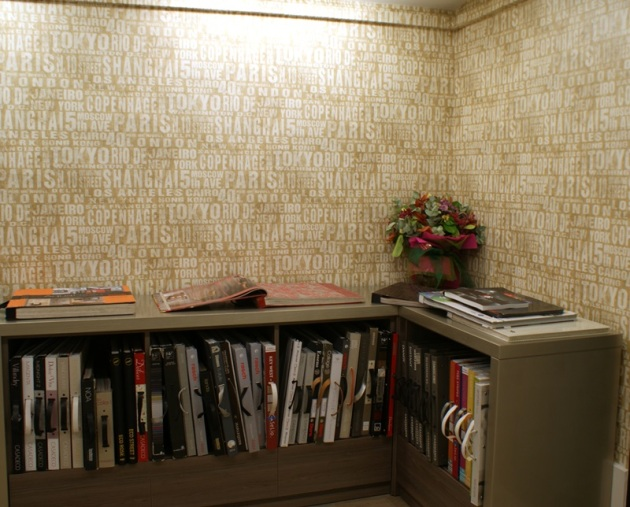 Empapelado Zona Interior con Papel pintado Tipografico