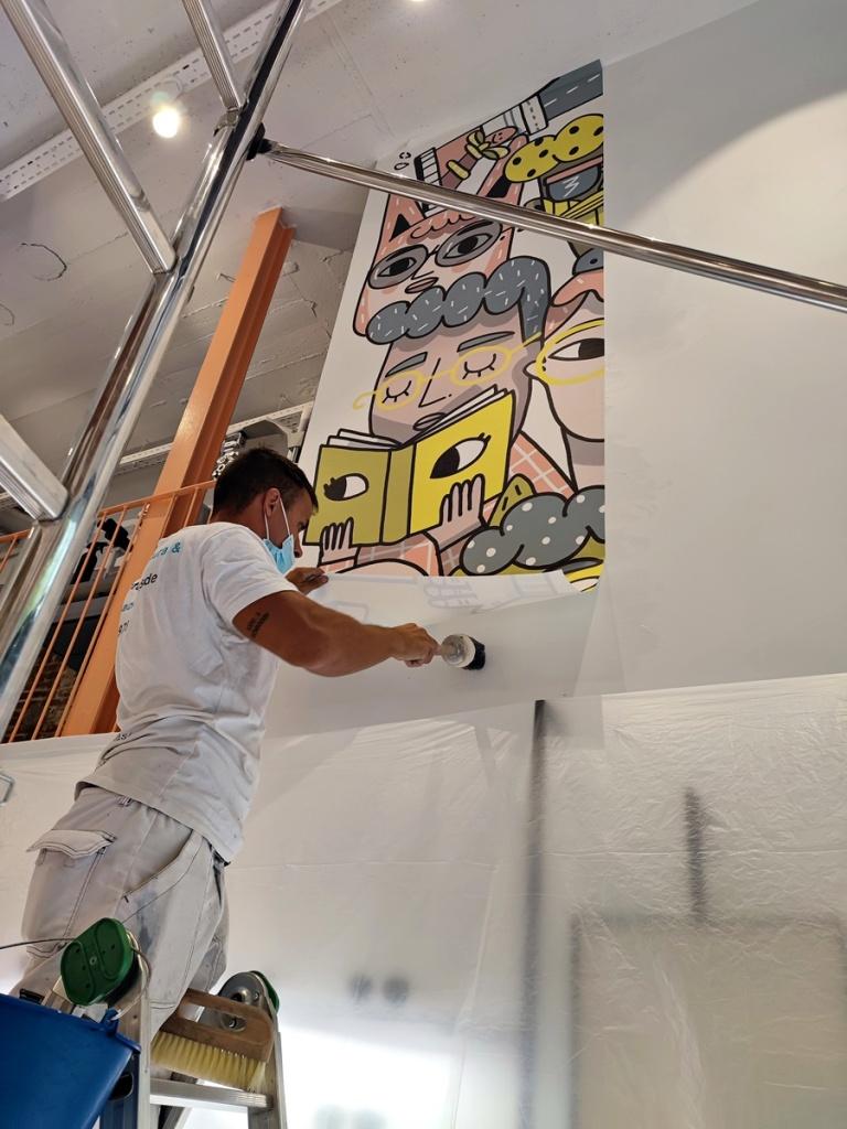 Instaladores murales papel pintado
